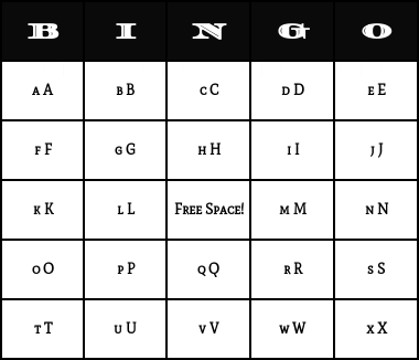 graphic relating to Abc Bingo Printable named Alphabet Bingo Playing cards